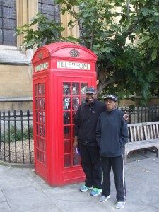 My mom and dad in London.