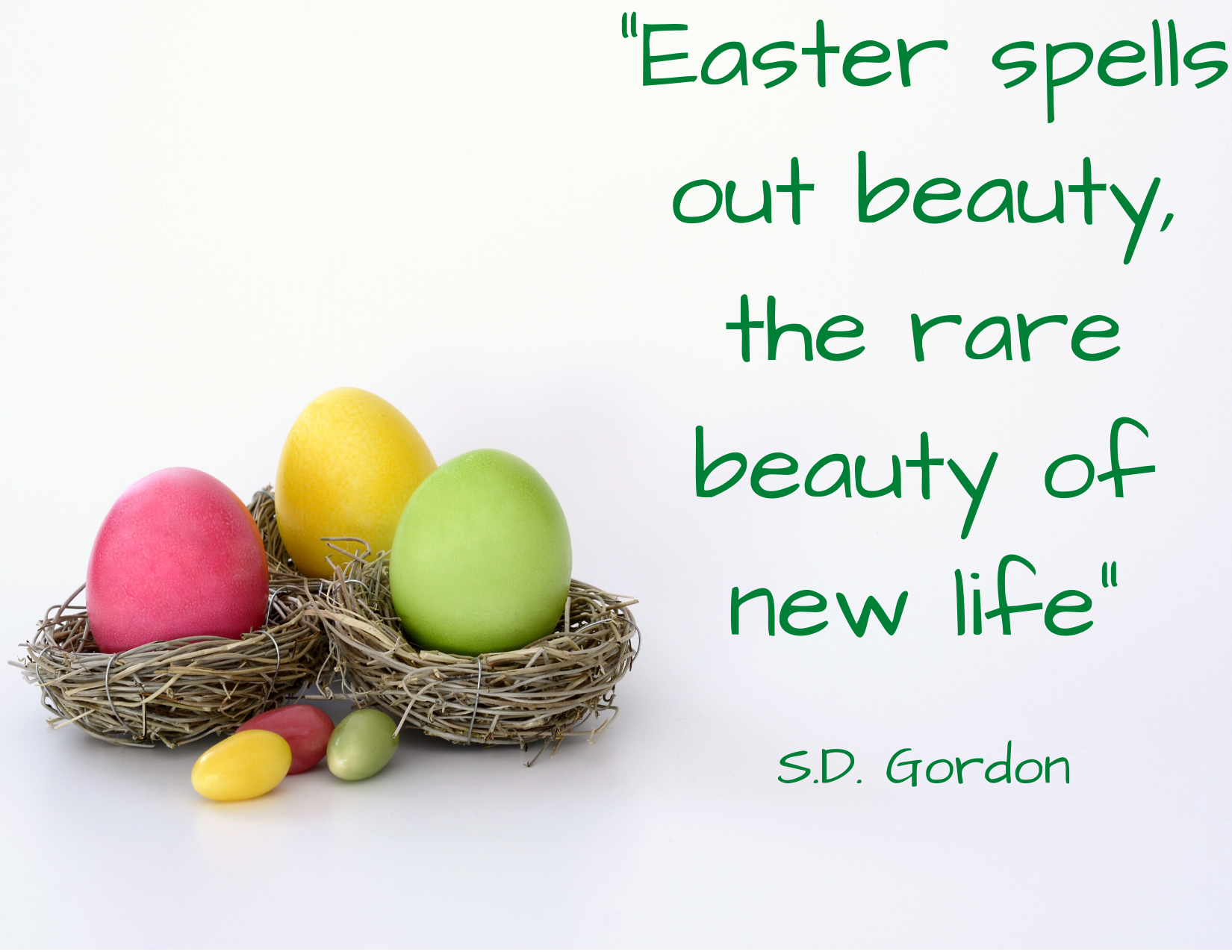 _Easter spells out beauty, the rare beauty of new life _